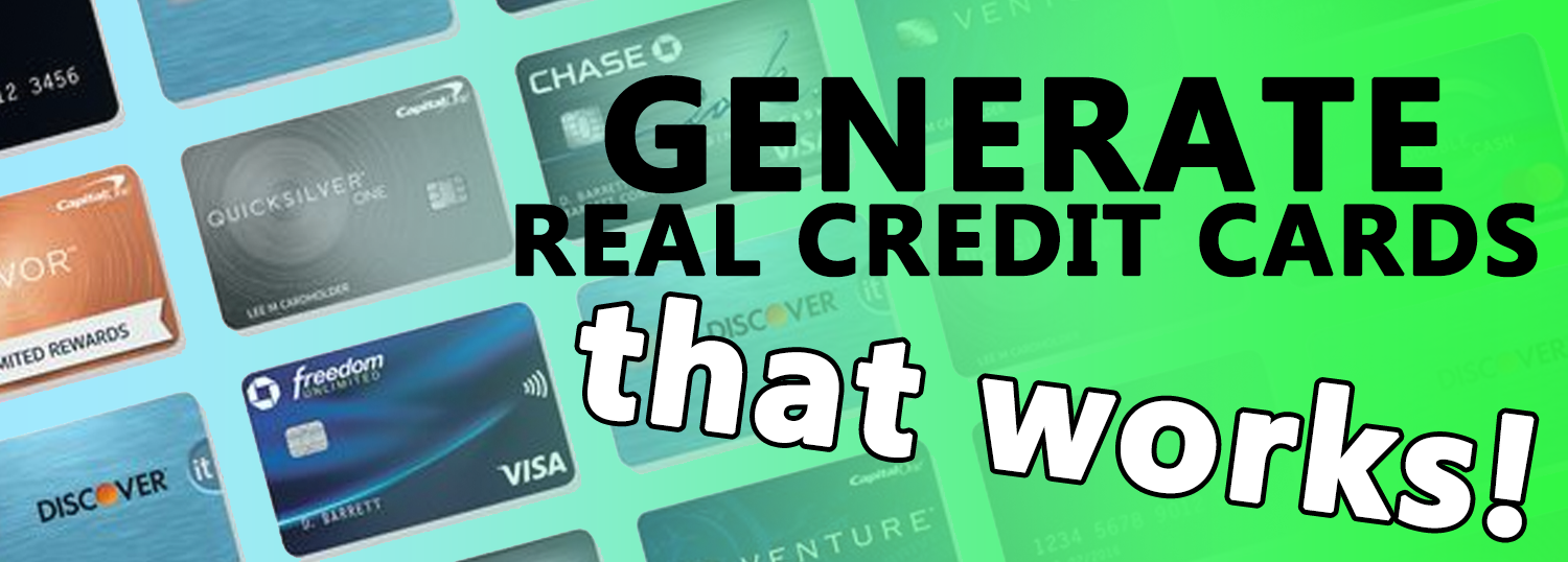generate real valid credit card numbers